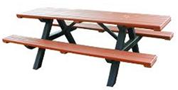 Plastic wood picnic table