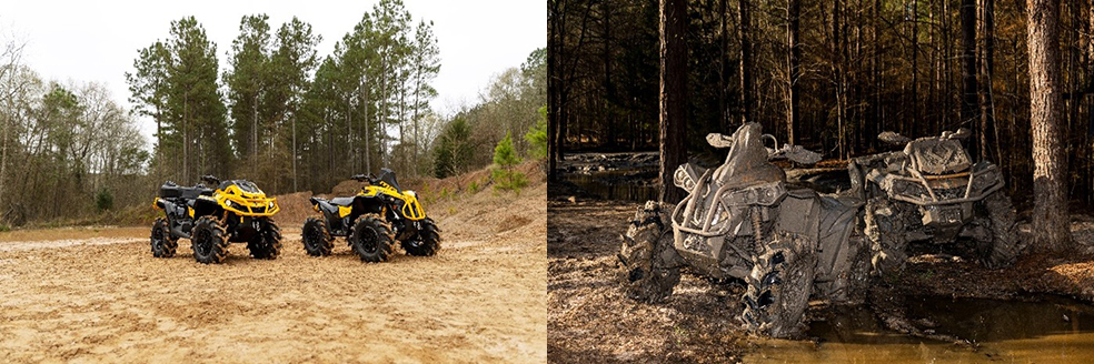 Calling All Mud Lovers! Can-Am Takes it to the Next Level  With the ATV Industry's Best 4-Wheel Drive System