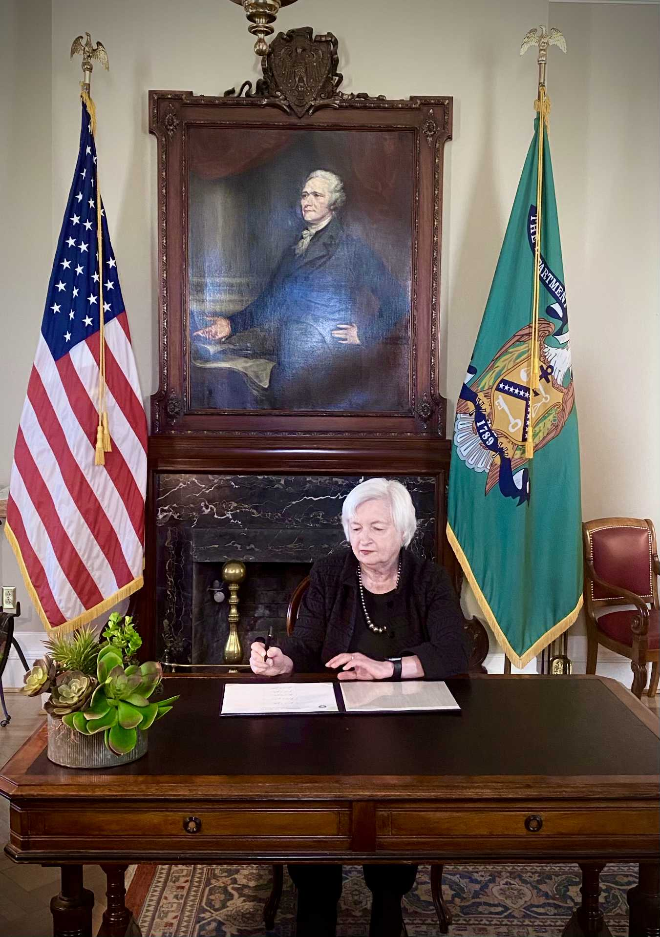 Secretary Janet L. Yellen Provides Official Signature for 2021 United States Paper Currency