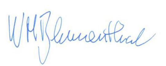 W. Michael Blumenthal signature